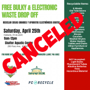 Shafter Community Clean- up Event CANCELED